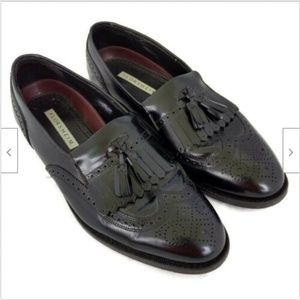 Florsheim black oxford tassel loafers 8.5 D
